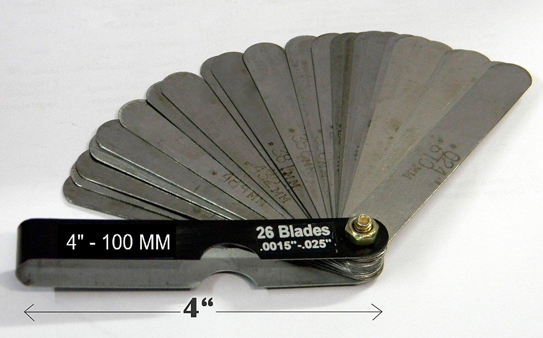 FEELER GAUGE Master - 4'' / 100 Mm X 26 Blades - .0015''-.025''
