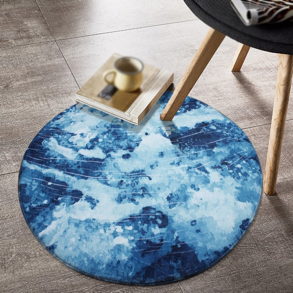Carpet Creative Moon Colored Carpet Living Room Coffee Table Pad Bedroom Basket Computer Chair Room Study Floor Mat ( Size : Diameter 180cm , Style : B )