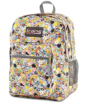 Trans By Jansport Supermax Multi Emoticon Backpack by Amazon