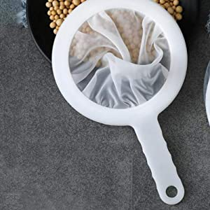 Funnel Filter Mesh, Food Filter Mesh Ultra-fine Filter Screen Dregs Artifact Nylon Mesh Filter Spoon For Filtering Milk, Soy Milk And Coffee (100/200/400 Mesh)