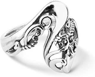 product image for Carolyn Pollack Sterling Silver Wave Ring Size 5 to 10