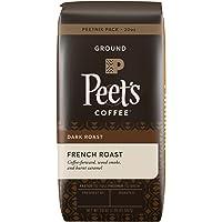 Peet's Coffee Ground Dark Roast Coffee, French Roast, 20 Ounce Peetnik Pack Bold, Intense, Complex Dark Roast Blend of Latin American Coffees, with A Smoky Flavor & Pleasant Bite