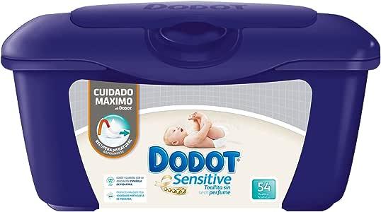 Dodot Sensitive - Caja de 54 toallitas para bebé: Amazon.es: Salud y cuidado personal