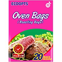 ECOOPTS Oven Bags Cooking Roasting Bags for Chicken Meat Ham Seafood Vegetable - 20 Bags (10 x 15 IN)