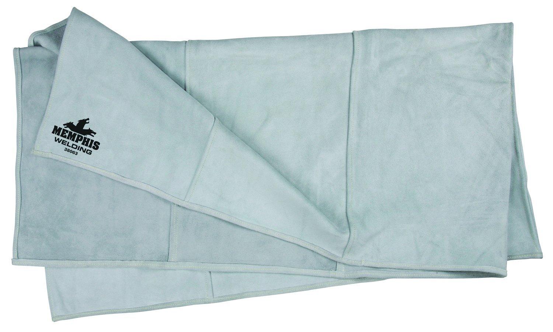 MCR Safety 38063 Heavy Side-Split Leather Welding Blanket, Gray, 6-Feet by 3-Feet