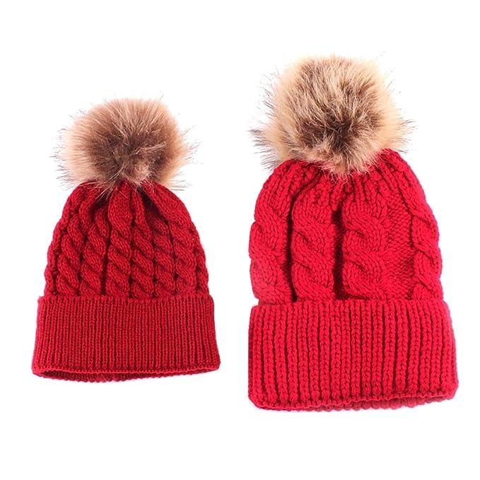 Prettyia 2pz Cappelli Berretti Cap Hat Lavorato Maglia Cappellini Calde  Inverno Natale Partito Costumi Accessori per 475f4b52a2ea