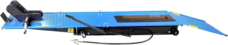 Motorradhebebühne Parallelogramm 450kg Mit Pneumatik Fußpedal Antrieb Blau Plb450 Paj 01646 Baumarkt