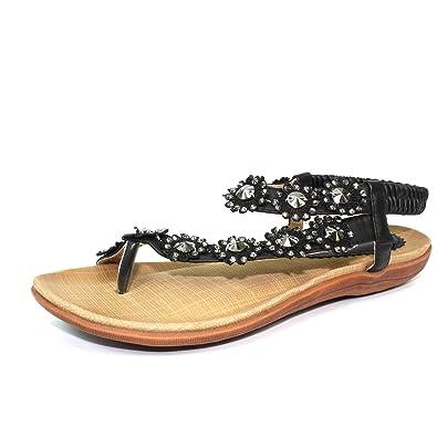6b5e0176043600 Lunar Womens Charlotte Flower Sandal  Amazon.co.uk  Shoes   Bags