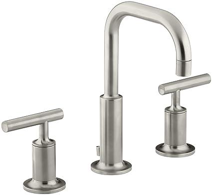 lavatory faucet faucets vibrant dp bn kohler nickel brushed k widespread purist bathroom