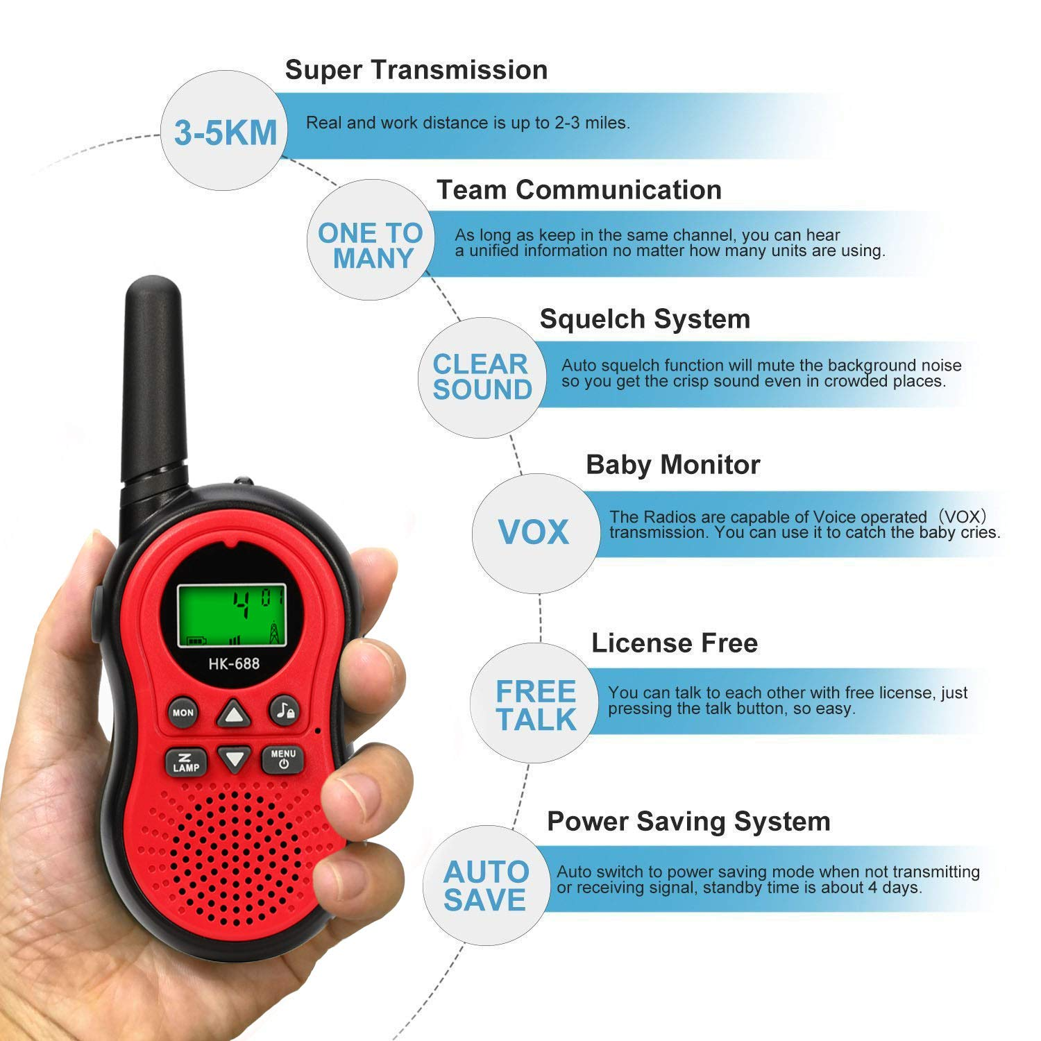 Product Description Our Walkie Talkie Is The Best Choice For Birthday Gift