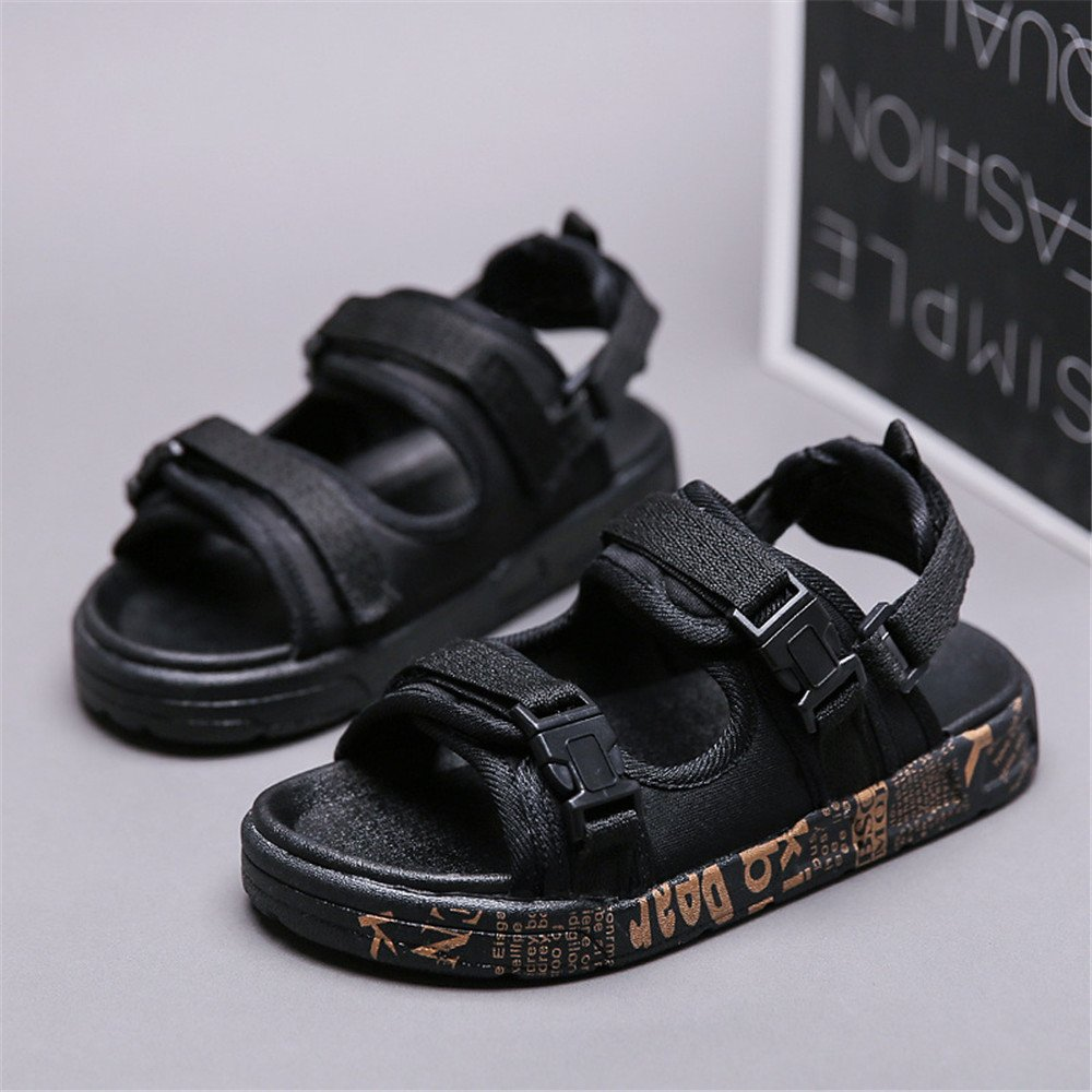 Boys Girls Leather Closed Toe Outdoor Sport Sandals Beach Flat Shoes Toddler//Little Kid//Big Kid