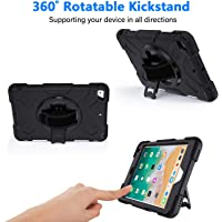 GROLEOA iPad Mini 4/5 Three Layer Hybrid Drop Protection Case with 360 Rotating Stand
