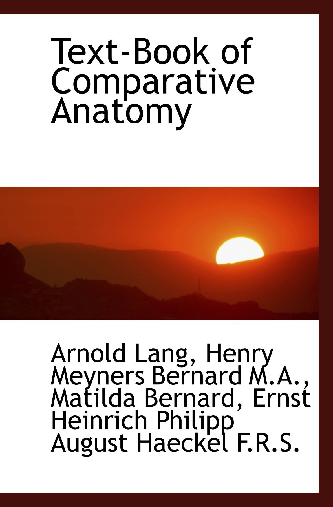 Download Text-Book of Comparative Anatomy PDF