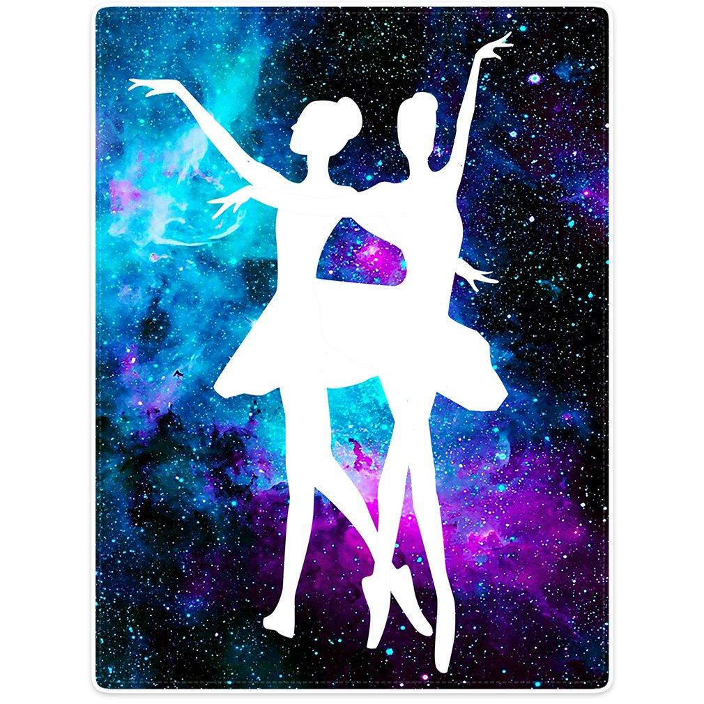 Blanket Sofa Bed Throw Lightweight Cozy Plush Ballet Beauty Dance Purple Galaxy Nebula 50''x80''