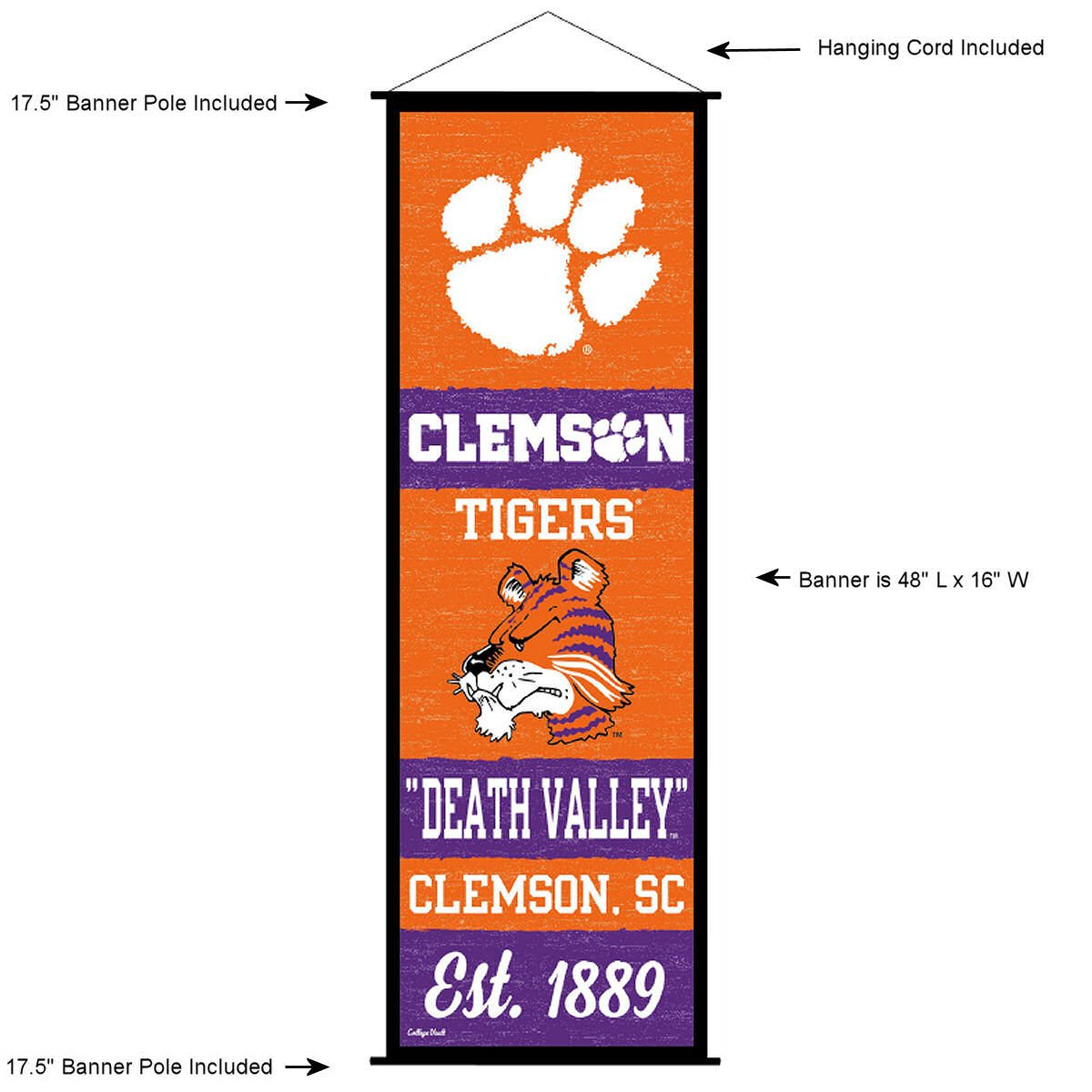 Clemson Tigers Banner and Scroll Sign