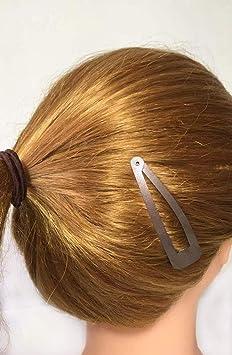 Floralsolid blue LARGE barrette clips  Snap clips