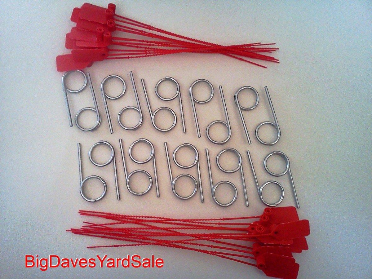 BigDavesYardSale 710822944146 20 - Fire Extinguisher Pull Pins & 22 Tamper Seals, Red