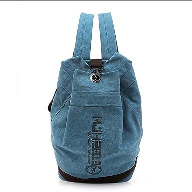 a8f01333f5 Zaino borse a tracolla Canvas Bucket Pack Borsa da basket Zaini  personalizzati per escursionismo Fitness ( Color : Blue , Size : 2 ):  Amazon.it: ...