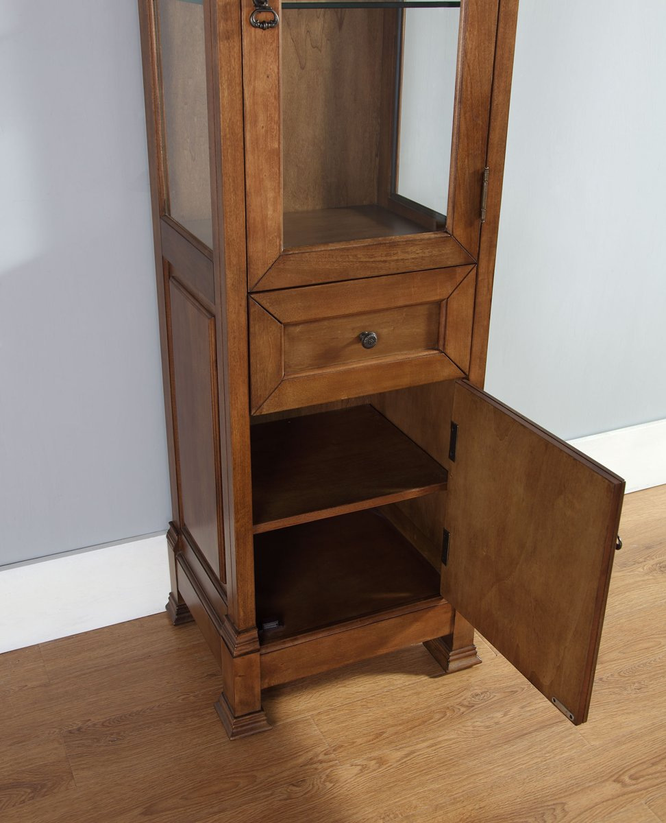 Amazon.com: Linen Cabinet in Antique Black Finish: Kitchen & Dining