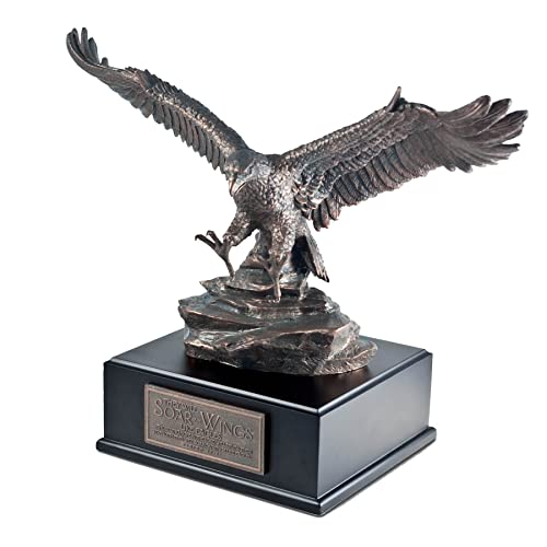 Lighthouse Christian Products Soar Like an Eagle Bronzelike Finish 14 x 6 Hand-Cast Resin Mounted Sculpture