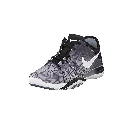 bb82b8638ef1 Nike Women s Free TR 6 Print Training Shoe Black White Cool Grey Size 9 M  US  Amazon.in  Shoes   Handbags