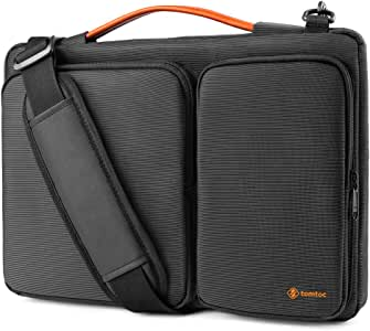 tomtoc Laptop Shoulder Bag for 13.5 Inch New Microsoft Surface Book 3/2/1, Surface Laptop 3/2/1, 360 Protective Case Fit 13-inch Old MacBook Air/MacBook Pro, Waterproof Sleeve with Accessory Pocket