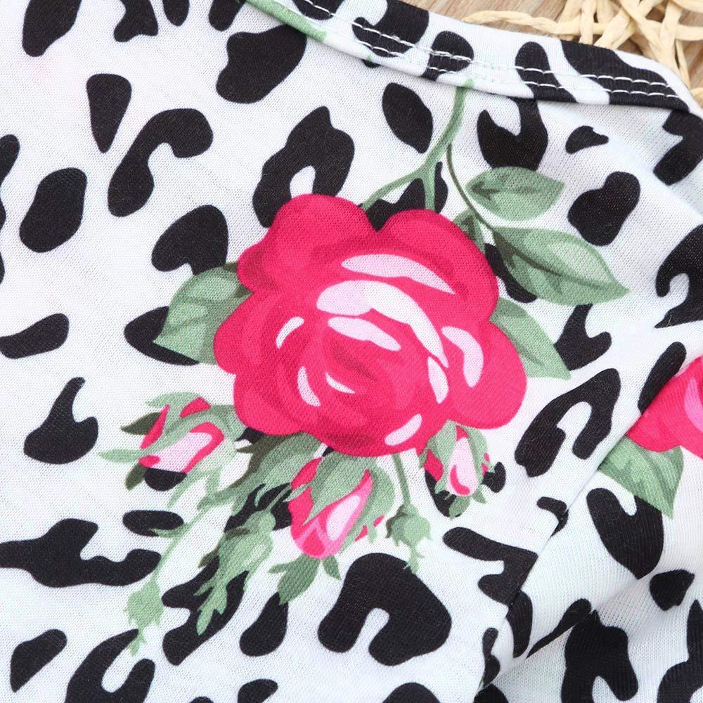 TM Jchen Little Girl Spring Fall Dress Toddler Baby Girl Long Sleeve Floral Print Bowknot Tutu Dress for 0-4 Y