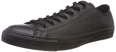 982f8b33a6db1c Converse Chuck Taylor All Star Leather Low Top Sneaker Black Mono 3 M US