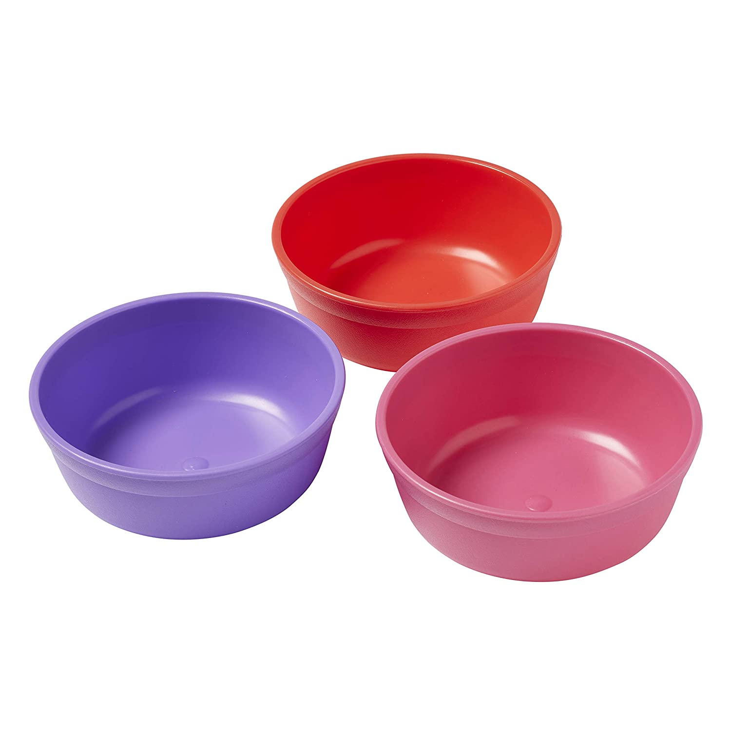 ECR4Kids My First Meal Pal Snack Plastic Kids Bowls – BPA-Free, Dishwasher Safe, Stackable Bowls for Baby, Toddler and Child Feeding - 3-Pack, Berry