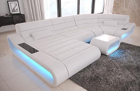 Sofa Dreams Piel Salón Paisaje Concept U Forma Blanco ...