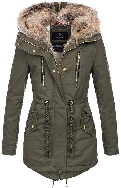 LEEDY Damen Einfarbig Drucken Jacke Wintermantel Mantel Frau