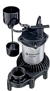Pentair Flotec FPZS33V 1/3-HP 115-Volt Submersible Thermoplastic Sump Pump
