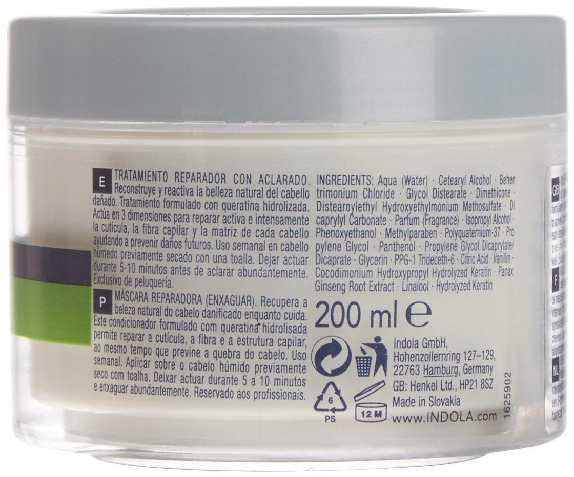 Indola Innova Reparación Enjuague-off Tratamiento 200 ml: Amazon.es: Belleza