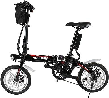 Lonlier Mini Bicicleta Eléctrica Plegable de Montaña con Rueda de ...