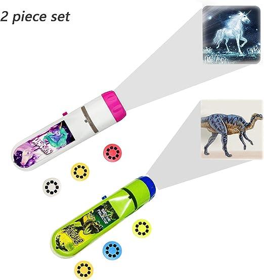 2 Sets Kids Sleep Story Proyector de linterna, Linternas Proyector ...