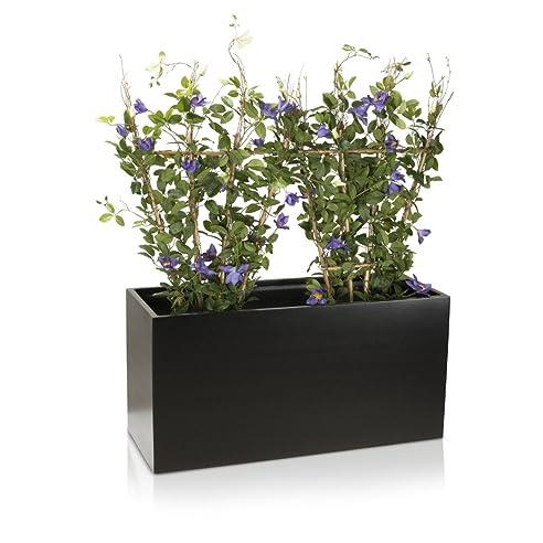 Pflanztrog Blumentrog VISIO Fiberglas Blumenkübel - Farbe: schwarz ...