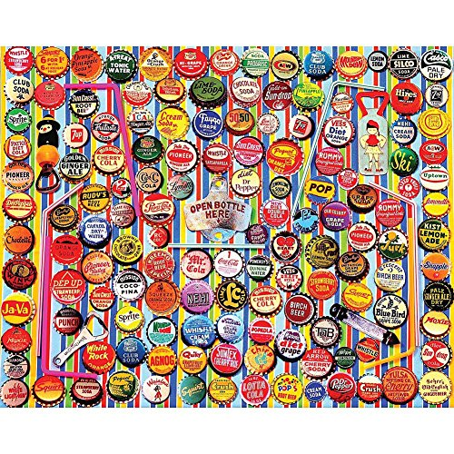 White Mountain Puzzles Soda Caps - 1000 Piece Jigsaw Puzzle (Pep Go Memory compare prices)