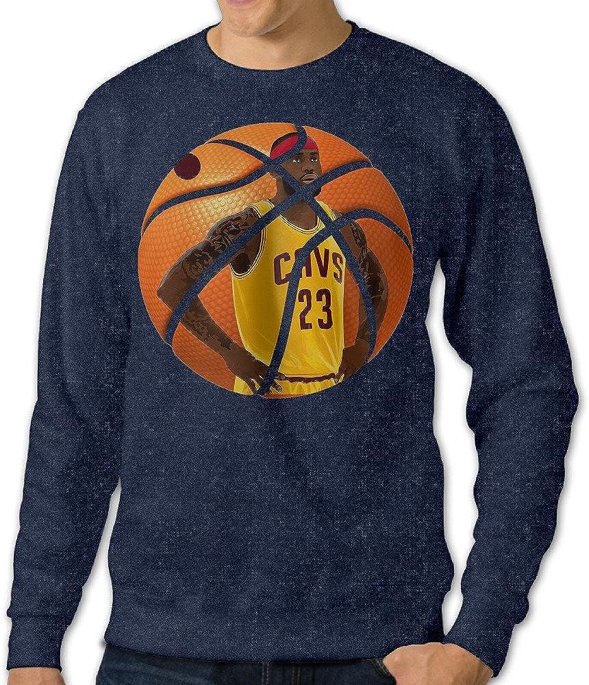 Baboy Men's Custom Jame #23 Cleveland Cavalier King Hooded Sweatshirt Navy