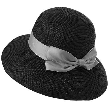 5a41d3d52 Comhats Summer Straw Sun Hats Women Foldable UPF 50 UV Protection Wide Brim  Safari Holiday Sunhat Adjustable