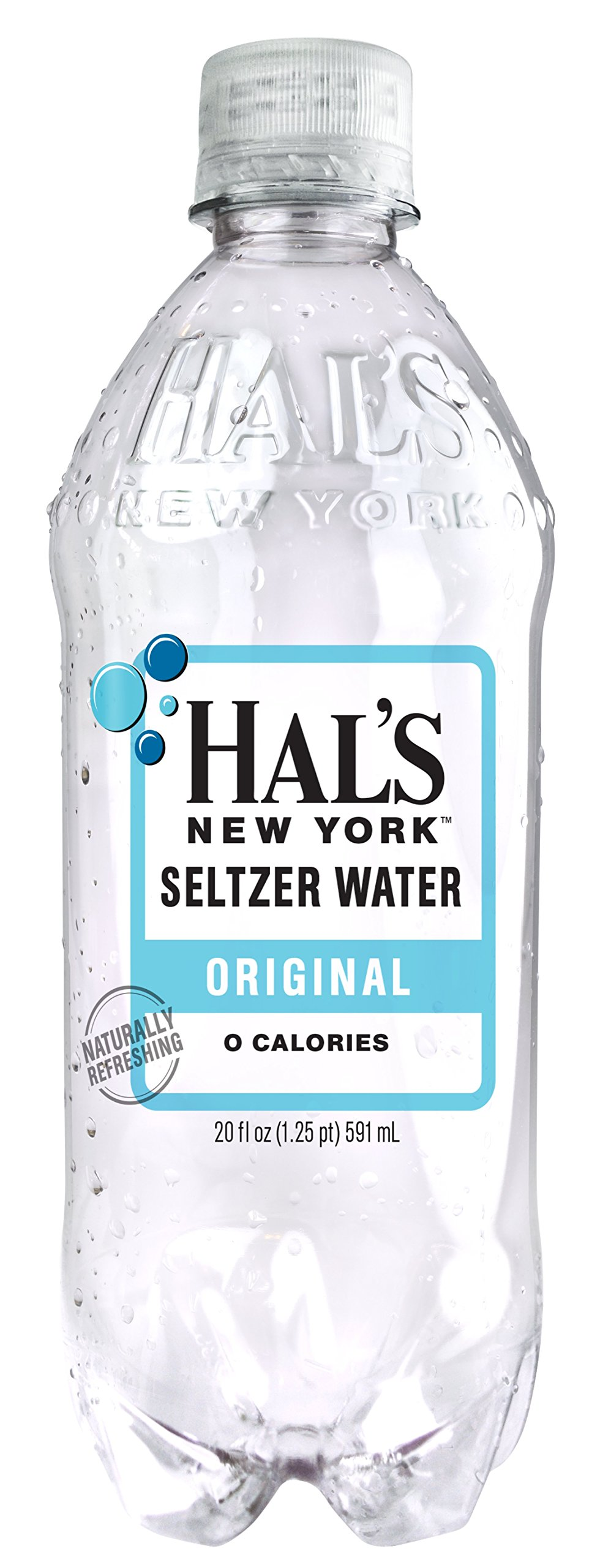 Hal's NY Seltzer Water 20 Oz Bottles (Pack of 24) (Original) by Hal's New York