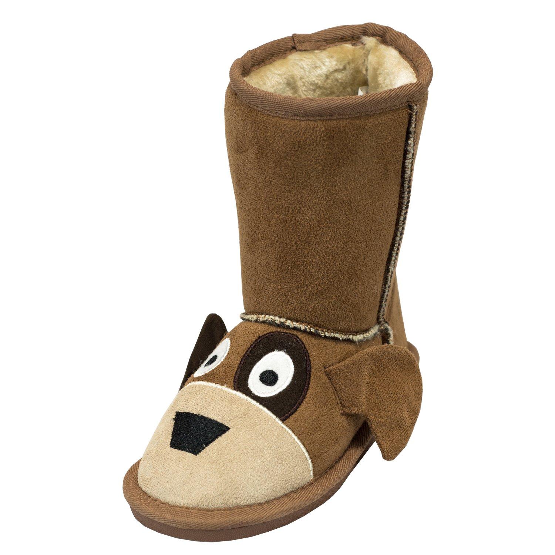 Dog Toasty Toez Cute Animal Character Slippers Kids LazyOne | Boys Girls Creature Slipper Boots (Medium)