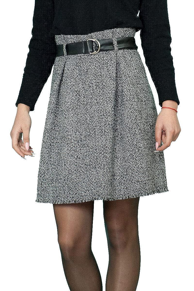 Lässiger Warme Warme Warme Winter Wolle Wool Rock A-Linie Weiß Schwarz Pepita Größe EU 36 38 40 42 44 46 48 B07HVL1JD5 Röcke Extreme Geschwindigkeitslogistik d2ccae