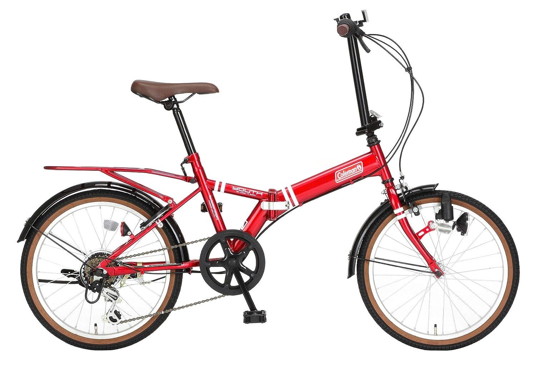 コールマン(Coleman) コールマン折りたたみ自転車 20インチ YOUTH 外装6段変速 レッド 3322 レッド 20インチ   B07RWYHGK9
