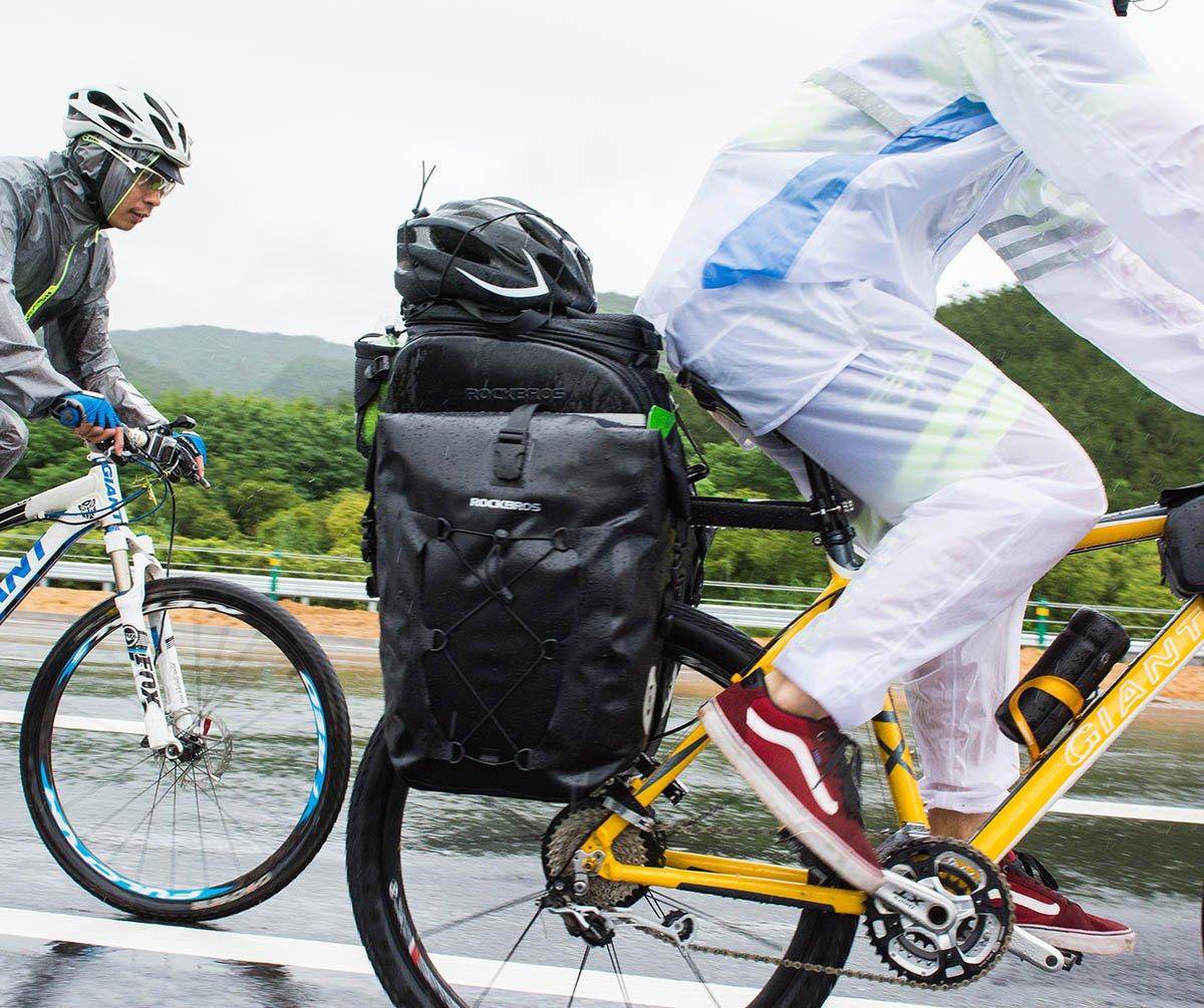 RockBros Bike Pannier Waterproof Large Capacity Outdoor Traveling Cycling Rear Seat Bag for Mountain Road Bike Trunk