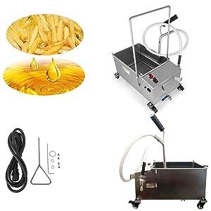 40L(10.56 gallon) Mobile Fryer Filter Commercial Oil Filtration System 300W Fryer 110v/60HZ (Item number#300007)