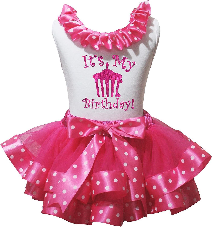 Petitebella Bling Birthday 2nd White Shirt Brown Orange Petal Skirt Nb-8y