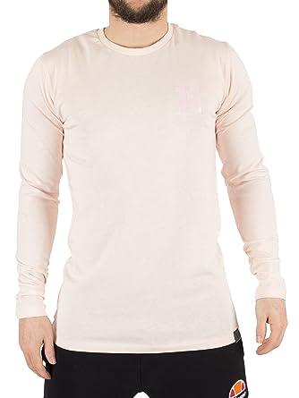 11 Degrees Men's Core Longsleeved Logo T-Shirt, Pink, Medium