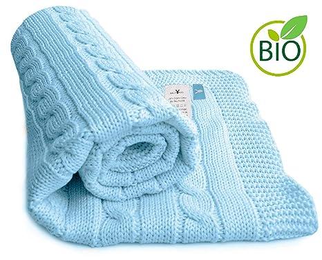 White Clair de Lune Pram /& Travel Extra Soft Cotton Cellular Baby Blanket