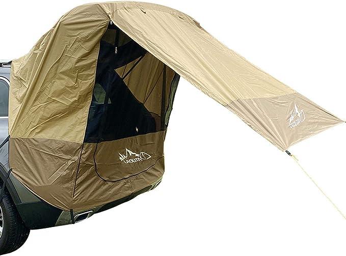 Carpa de maletero para coche, al aire libre, autoconducción, barbacoa, camping, extensión de la cola del coche, parasol y resistente a la lluvia, ...