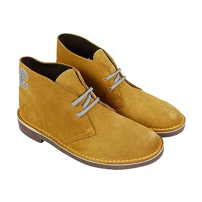 a432d60899eb5 CLARKS Bushacre Ca Mens Tan Suede Casual Dress Lace Up Chukkas Shoes 7.5